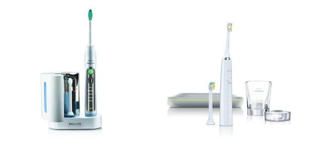 sonicare diamondclean vs flexcare electric toothbrushes