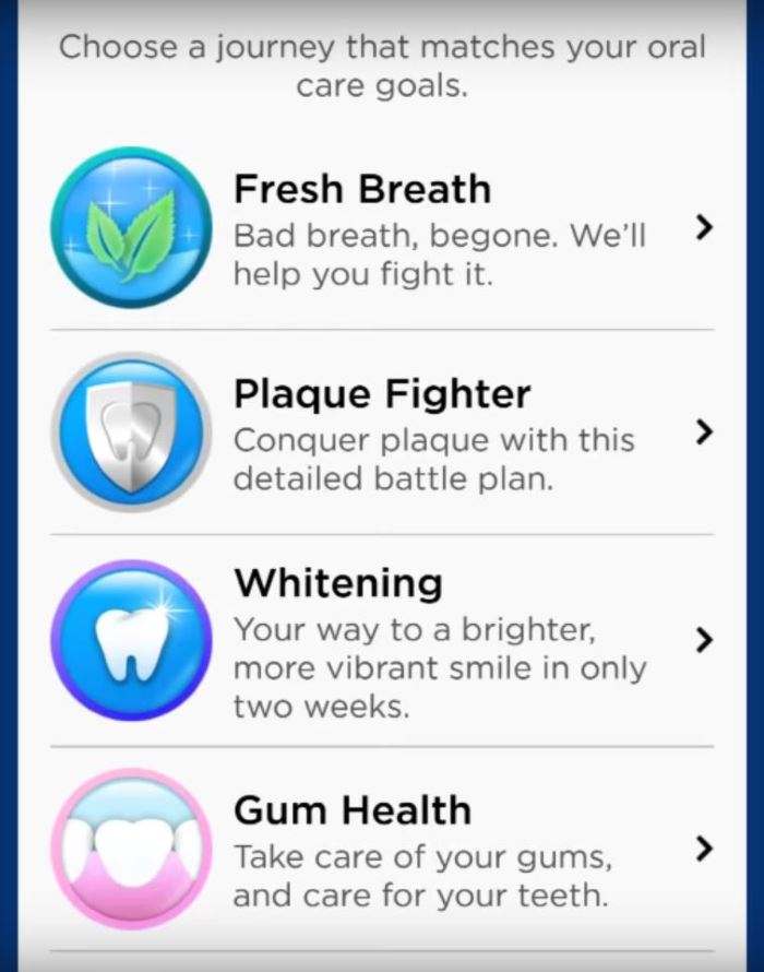 oral-b pro 5000 app screenshot