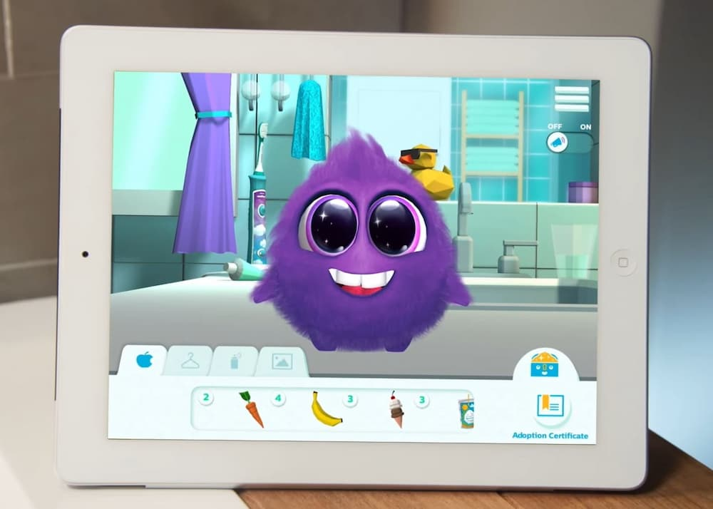 Sparkly in Philips Sonicare For Kids application