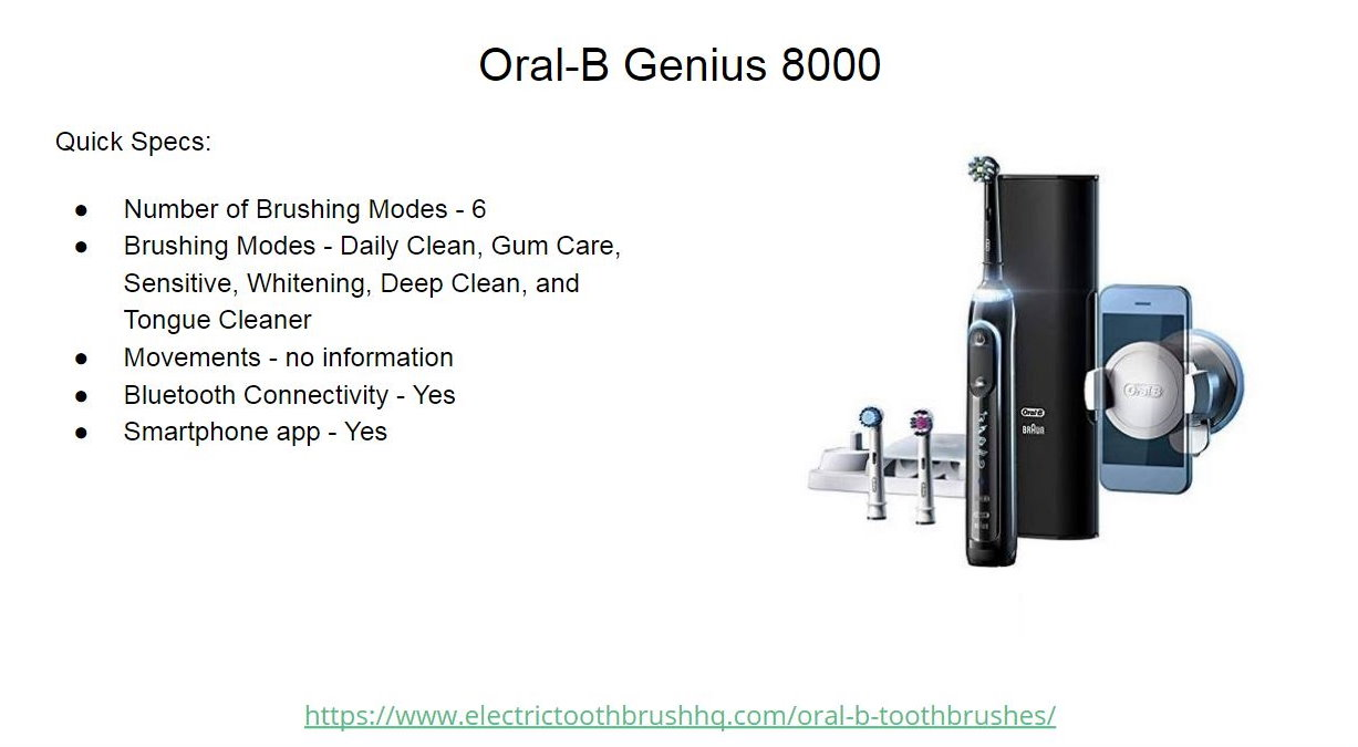 Oral-B Genius 8000 Slide