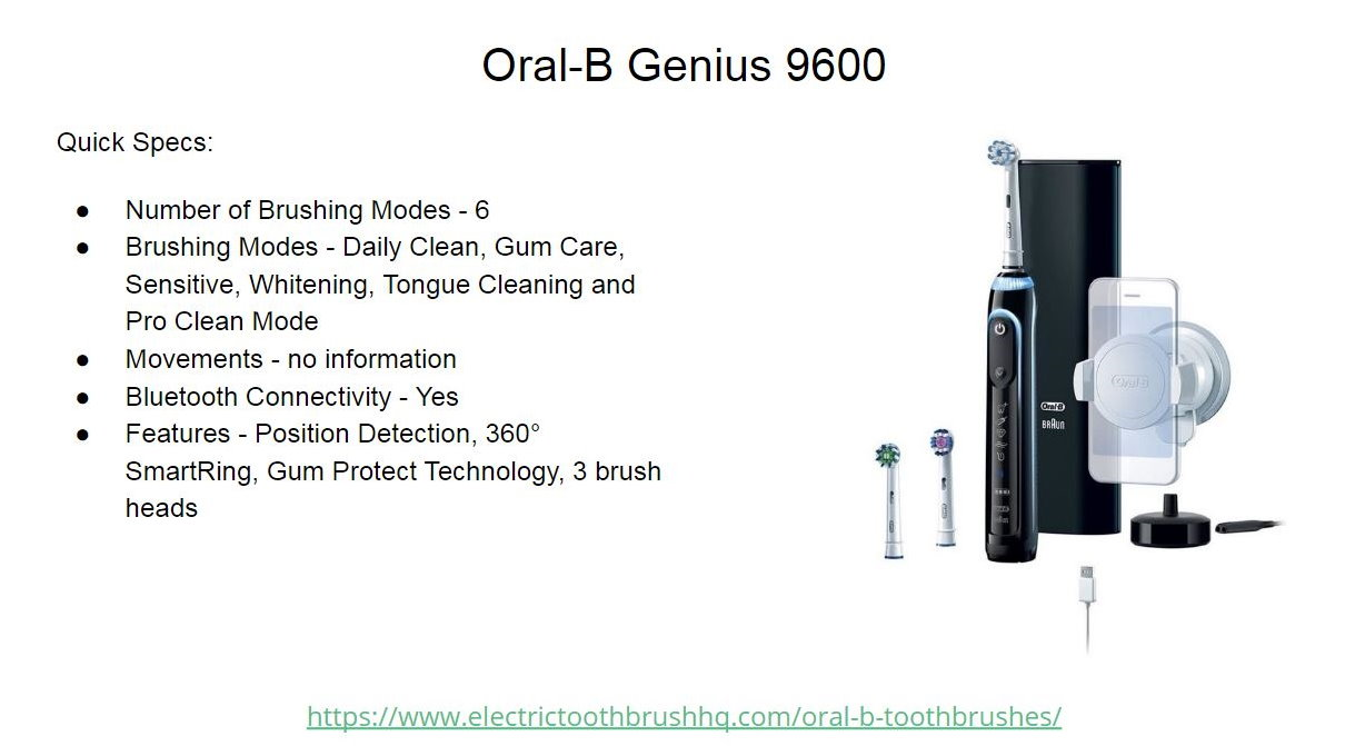 Oral-B Genius 9600 Slide